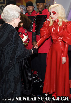 Lady Gaga Queen Elizabeth II Royal Variety Performance